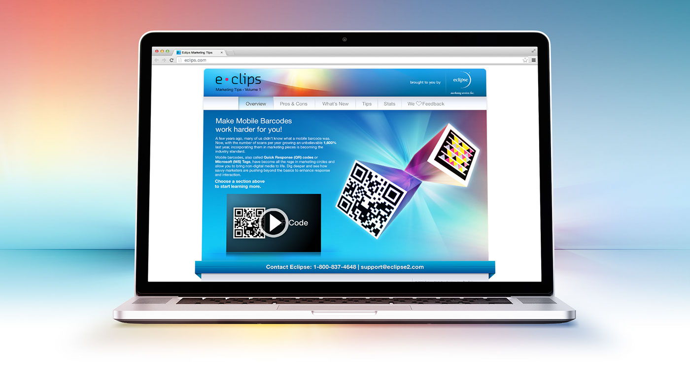 eclipse microsite enewsletter ms tag qr  code mobile Barcodes