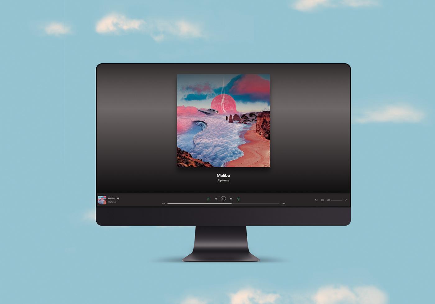 album cover branding  clouds collage Music Branding Photo Composite reggae Space
