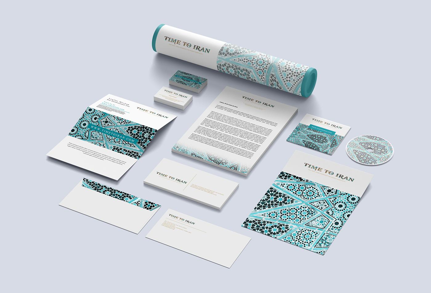 time to iran branding  Stationery graphic design