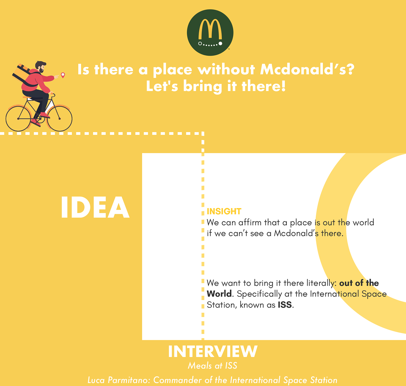 ADV art direction  copywriting  deliver delivery hamburger mcdonald moon rider Space