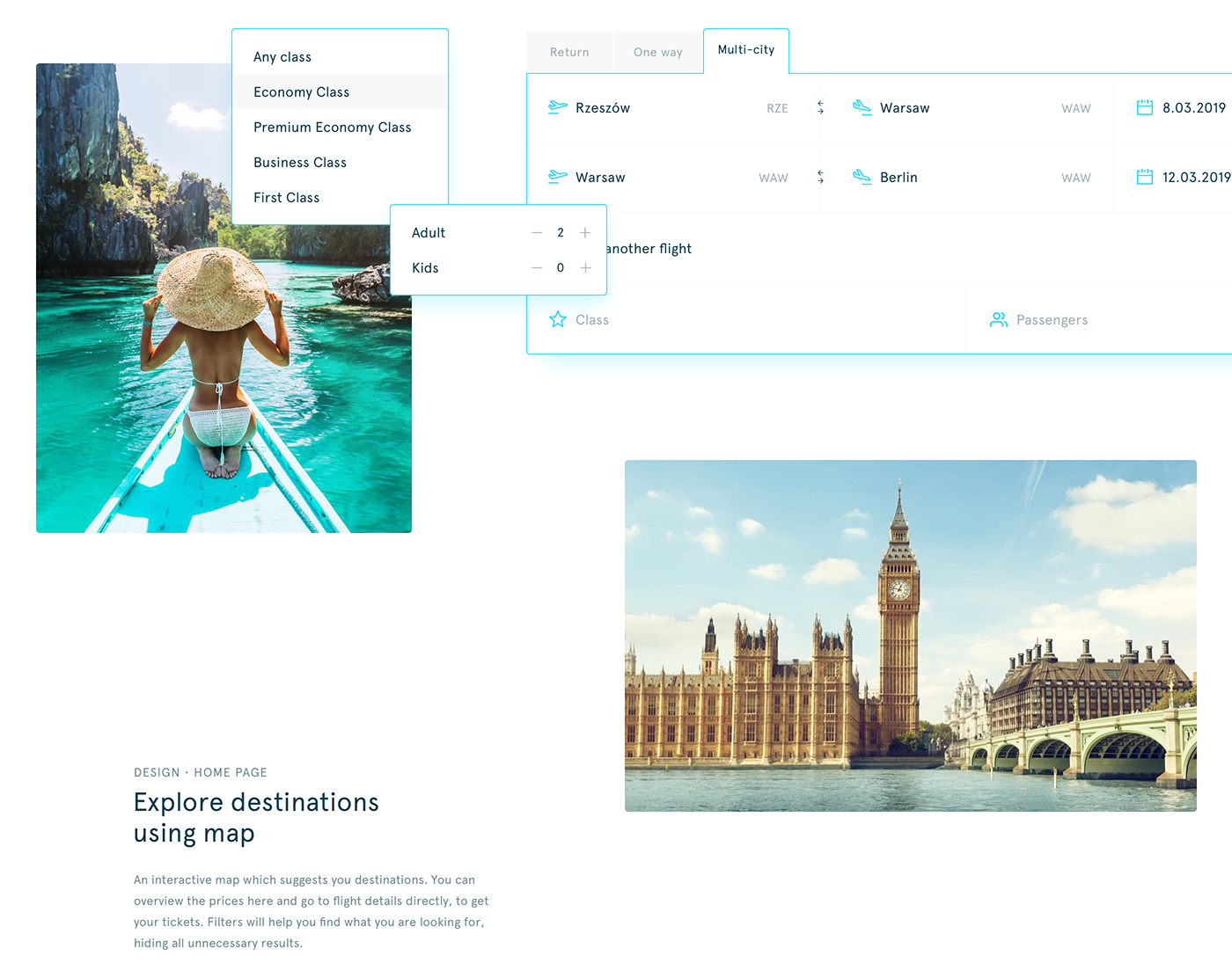 Travel Skyscanner Web Design  airline Booking hotels air Flights search bar search results