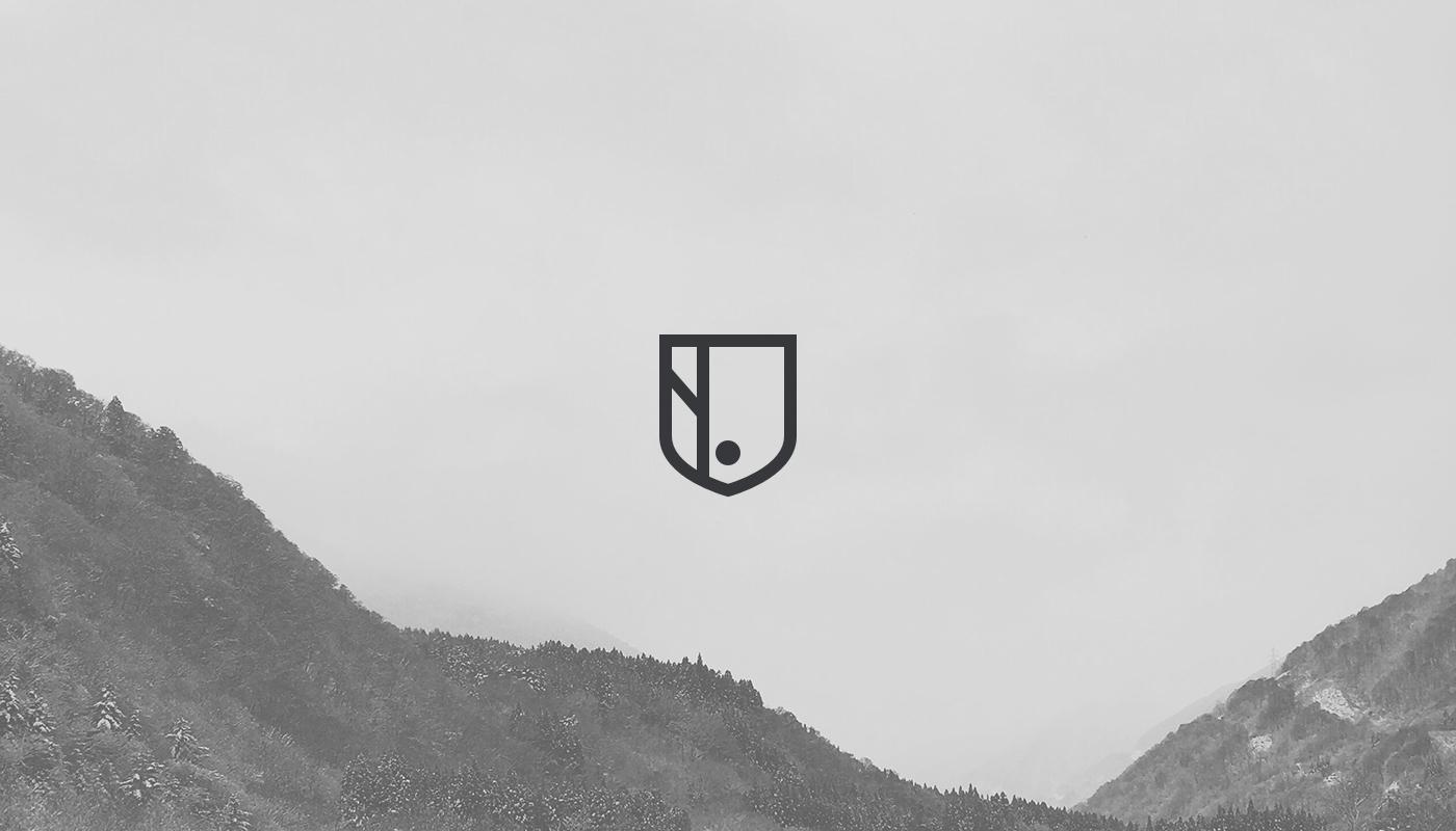 brand north nation shield logo mobile agency
