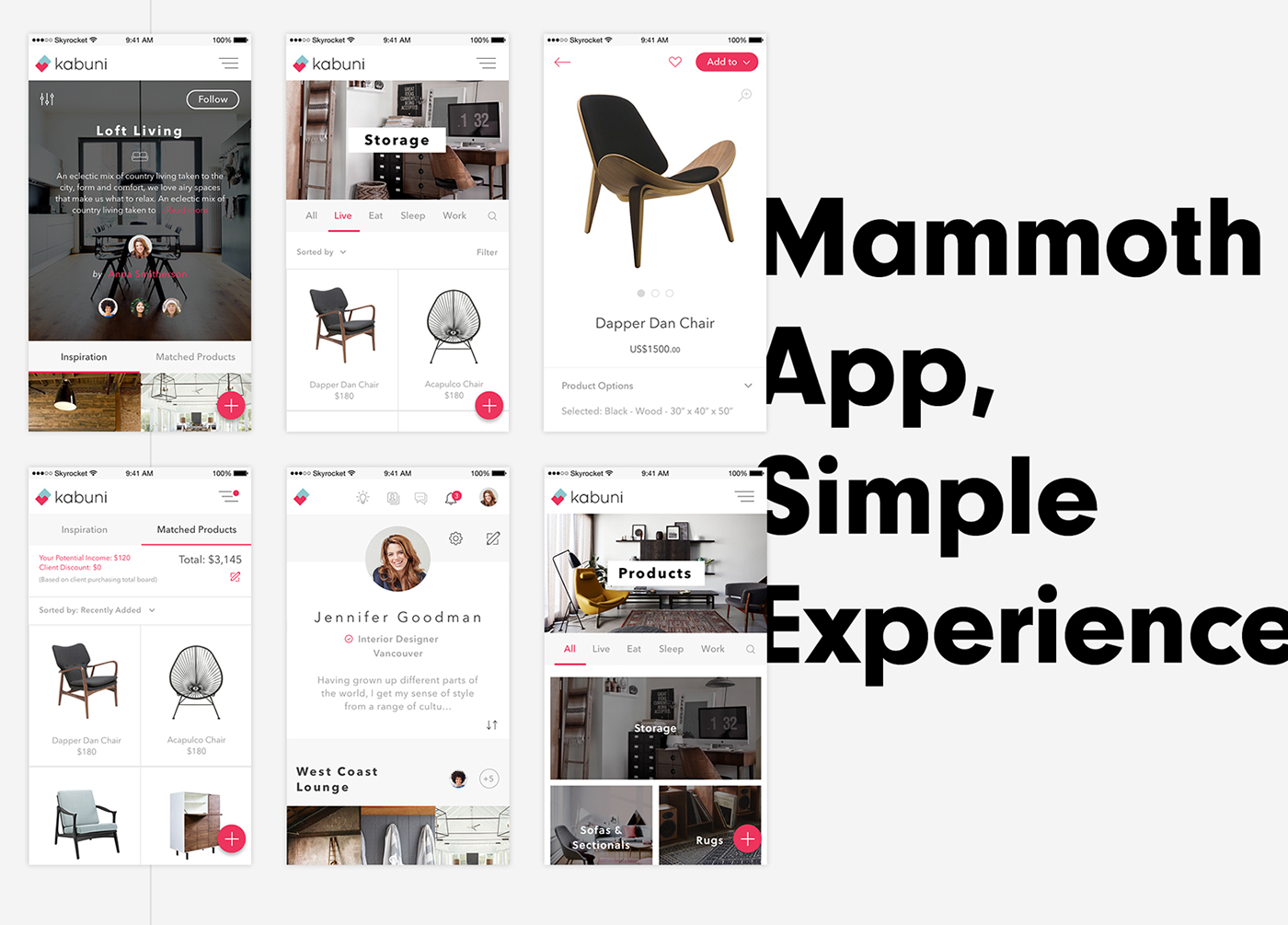 kabuni app branding  identity interior design  web app ios brand strategy product design