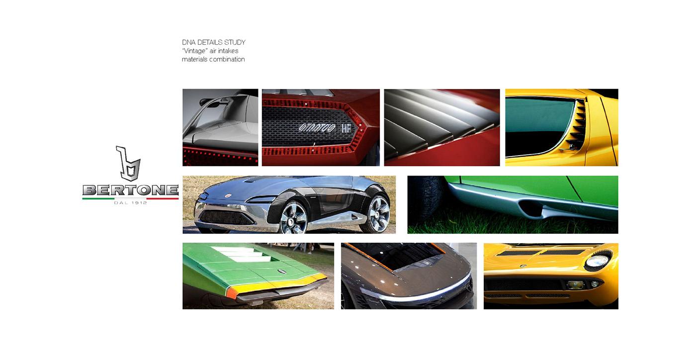 diseño automotriz industrial producto Concurso ganador bertone lamborghini concept car