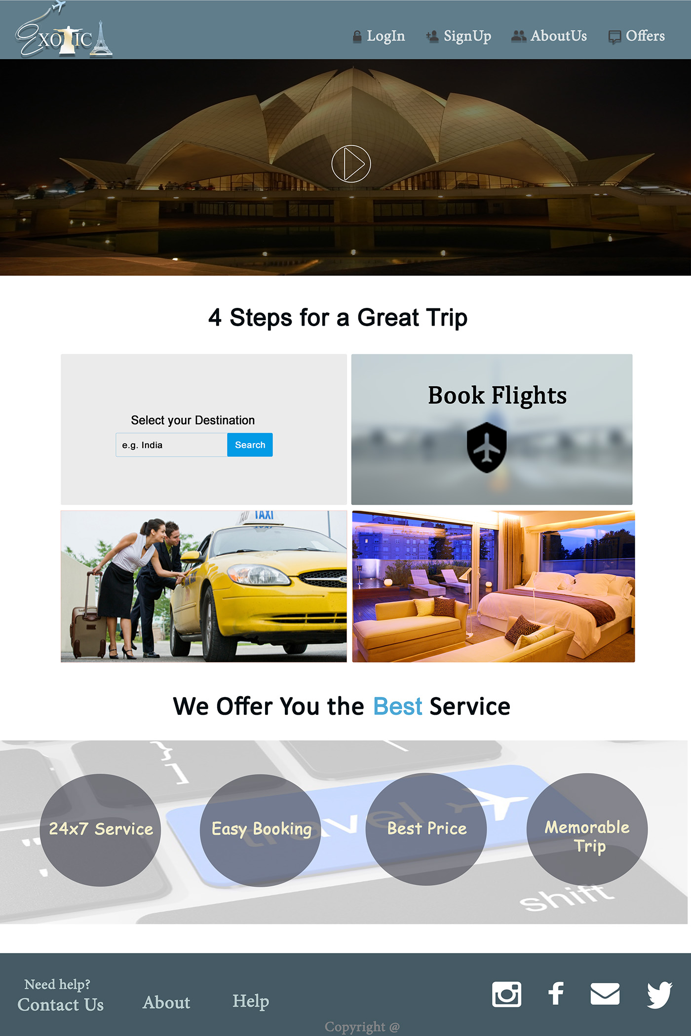 Exotica(Travel & Tour) on Behance