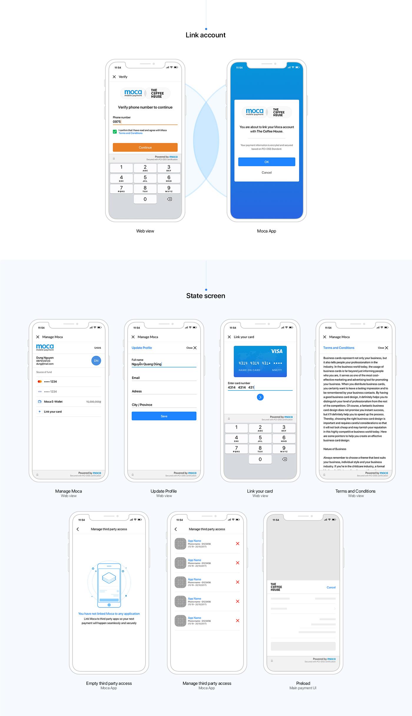 payment Fintech app UI ux vietnam MOCA in app payment ui design interaction