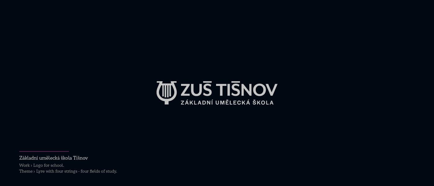 ZUS Tisnov - Logo for Art school