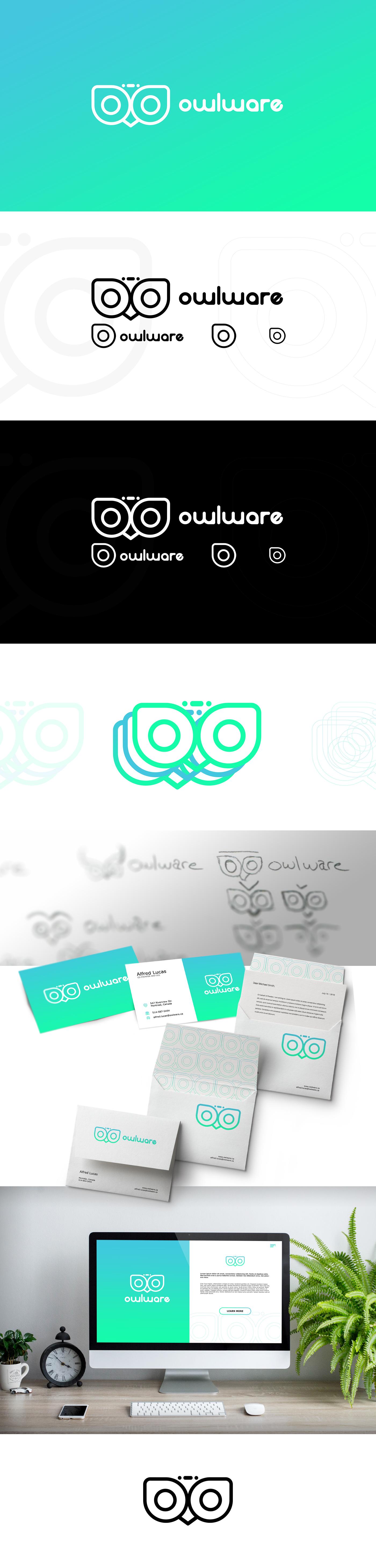 branding ,logo,design,software,owl