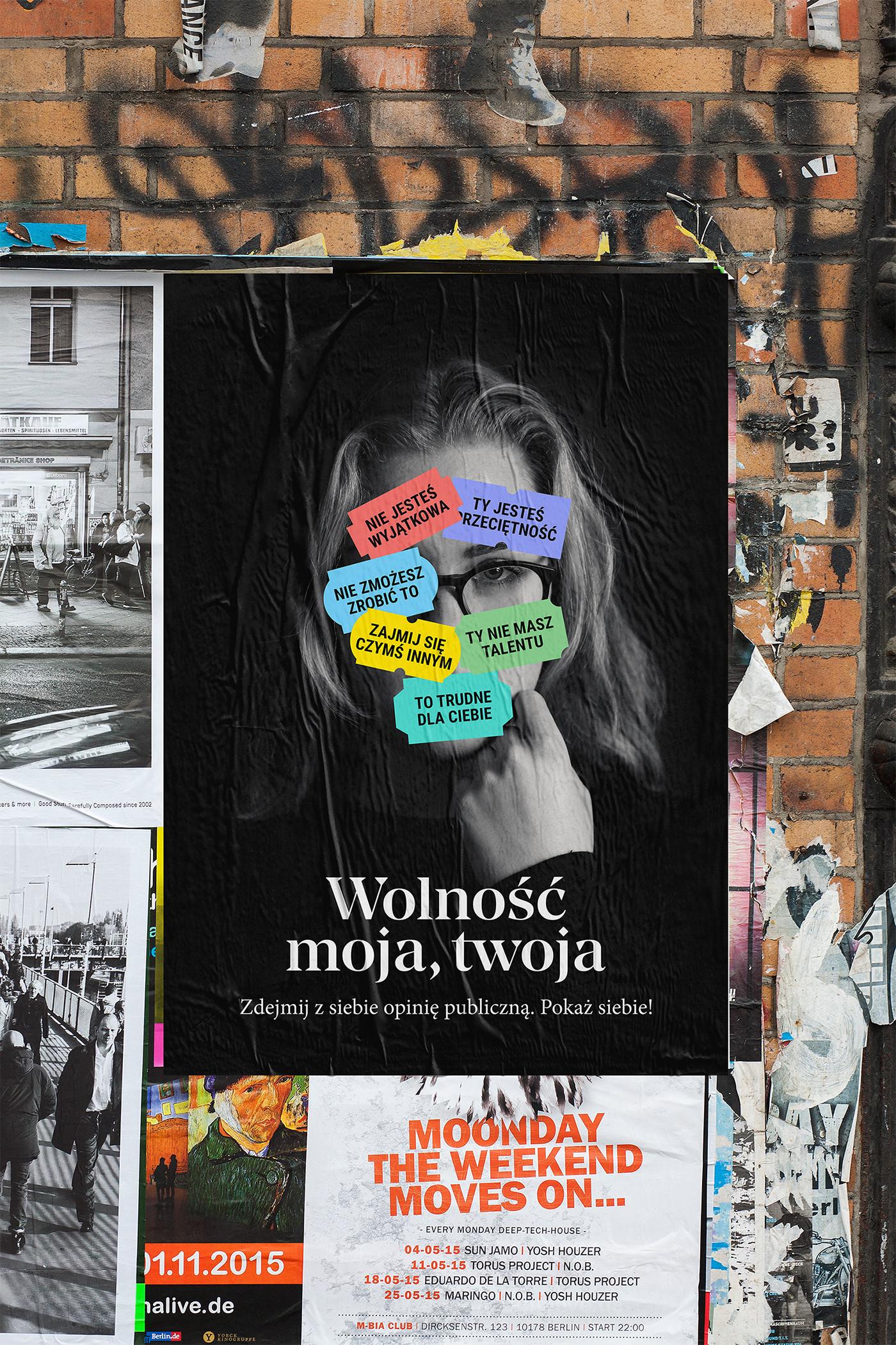 poster social Project photo creative graphic design Performance portrait face