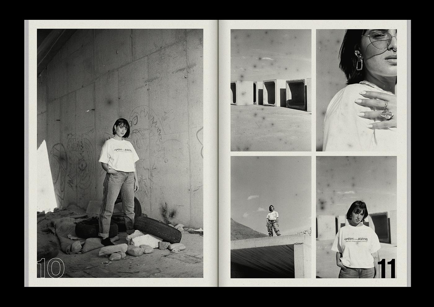 Fashion  editorial streetwear fanzine Brutalism 35mm analog print publication
