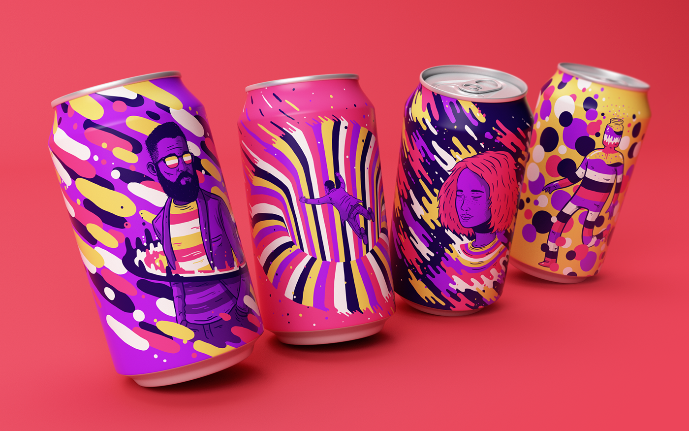 soda beverage can colorful sound drink Frequency Liquid textures