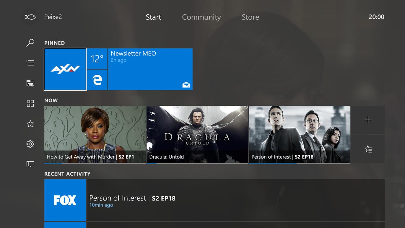 Windows 10 TV - MEO 2016 | Concept on Behance