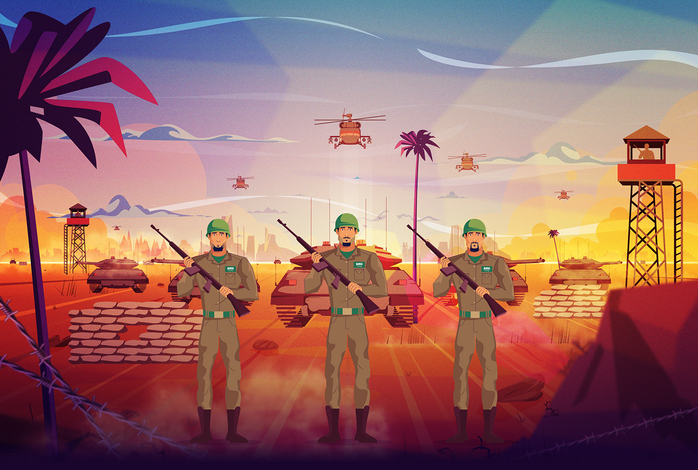 2D Advertising  animation  graphics motion motion graphics  National day producer Saudi storyboard