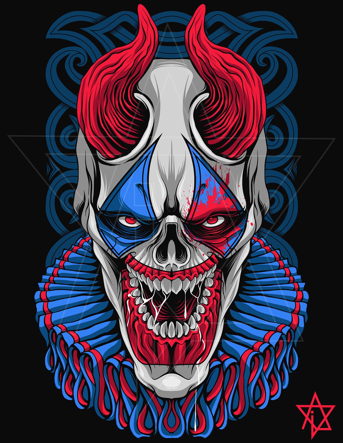 Image may contain: drawing, cartoon and skull