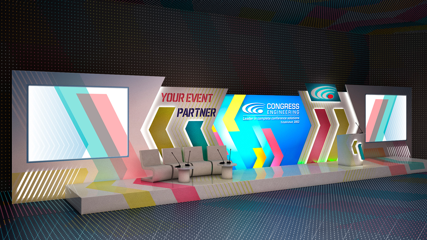 Project Corporate Event Stage Design On Behance
