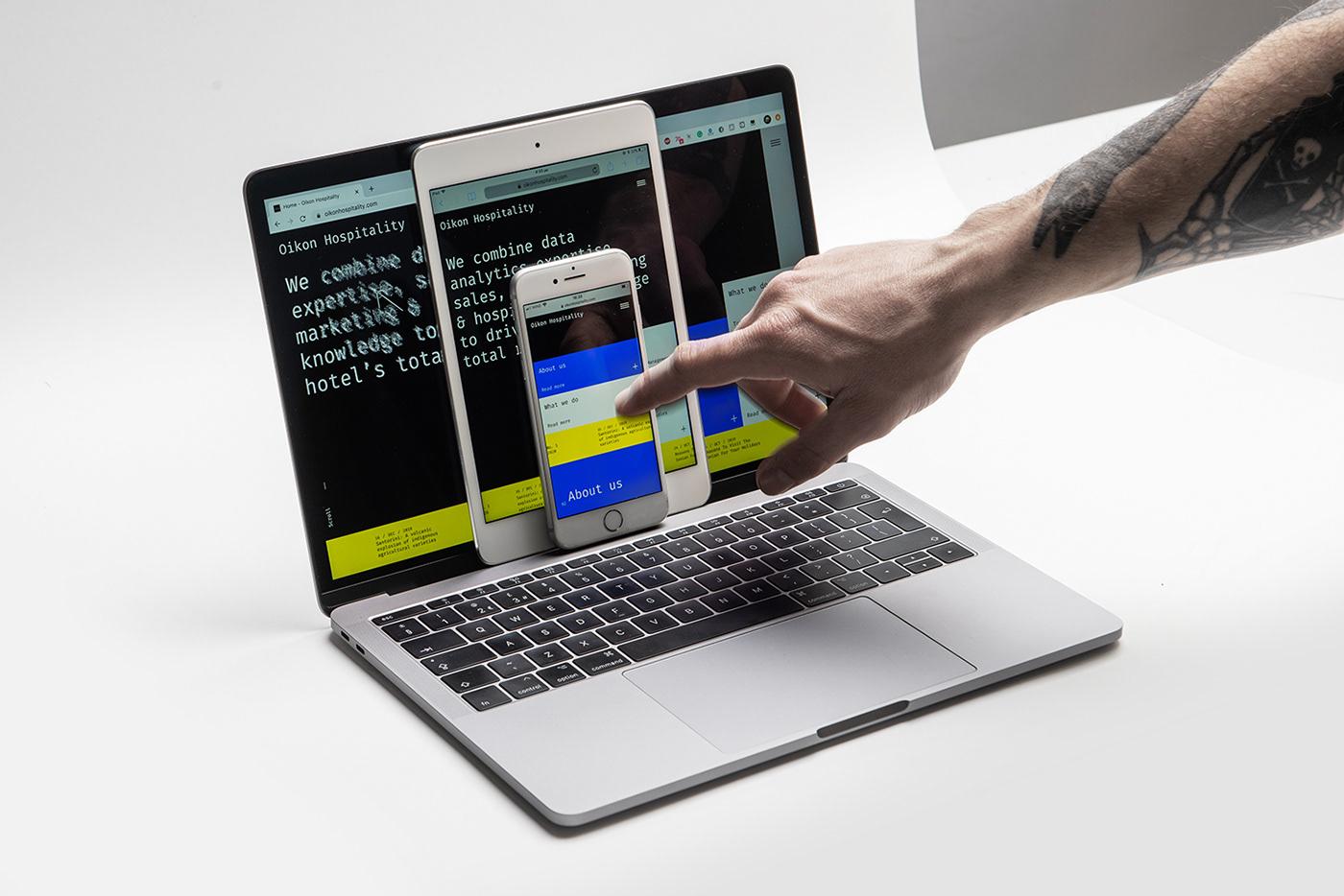 Basic code hotel managment infographics monospace motion Responsive Web Design  Website