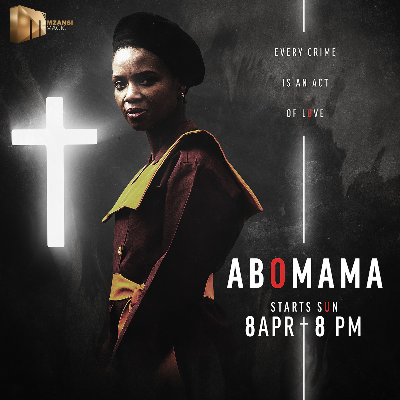 abomama Mzansi Magic Mzansi Magic   birthmark campaign faith design duality dark
