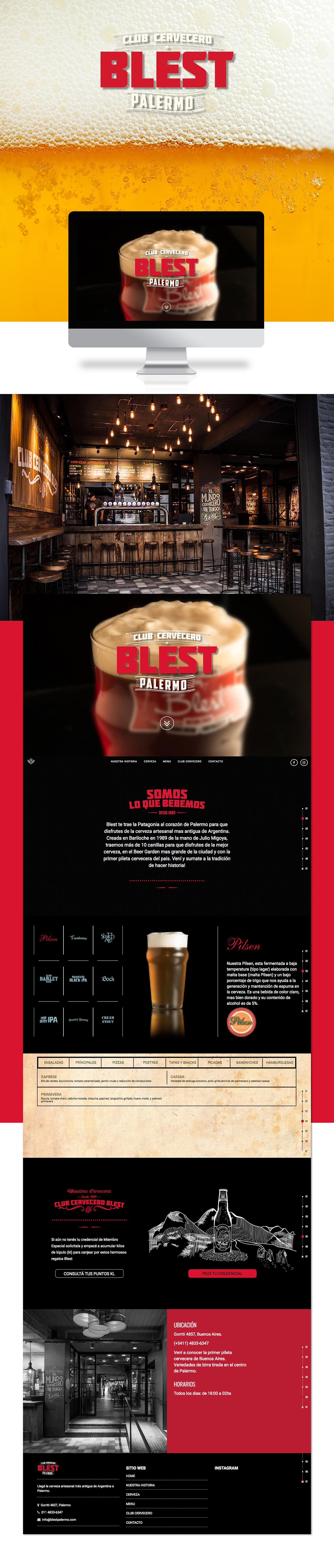 Web design pagina beer bar drink Responsive Web Design  mobile desktop