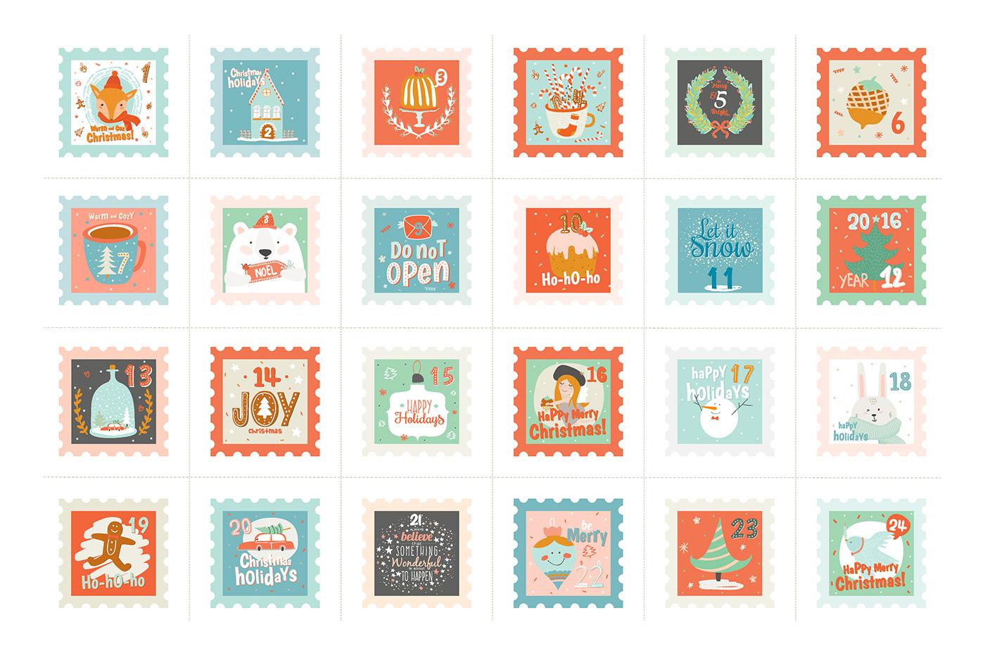 細緻的27套聖誕卡片欣賞