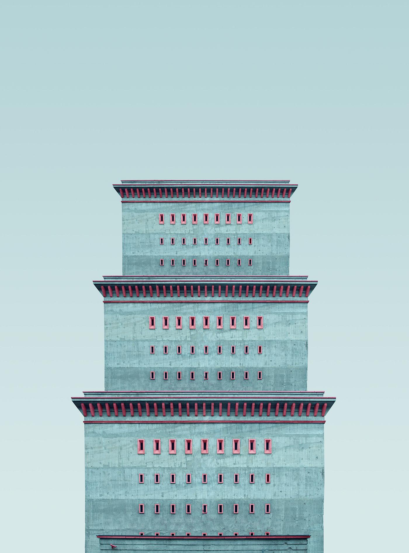 berlin minimal architecture modern surrealism Urban city geometry building pastel