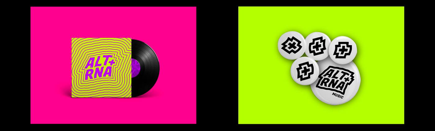 alternative brand branding  graphicdesign music neon
