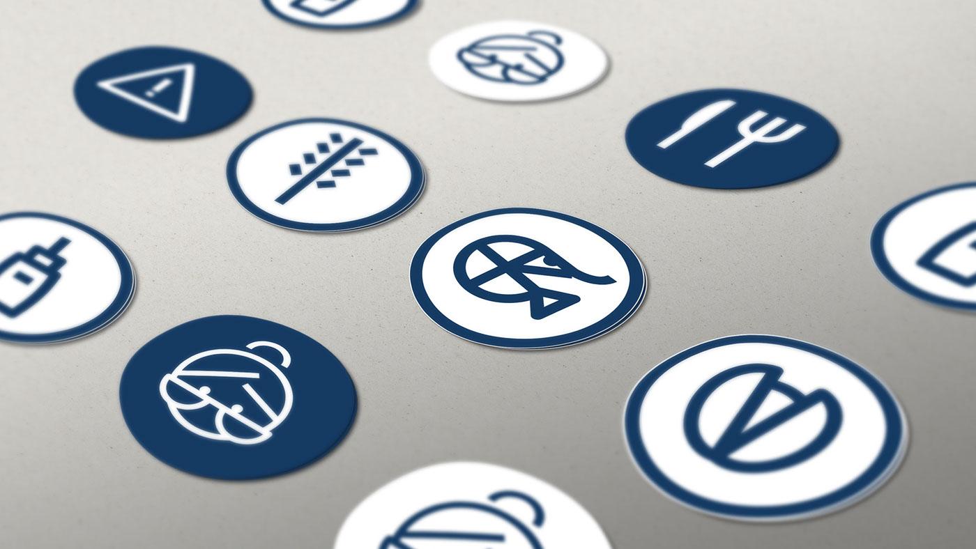 app alergias alergenos comida Food  icons branding