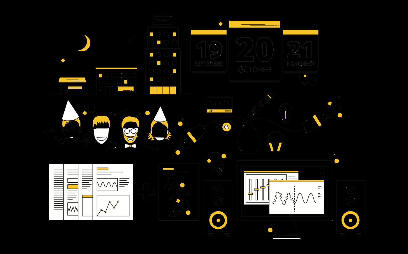 visual identity identity singapore Portugal acoustics Website UI ux yellow