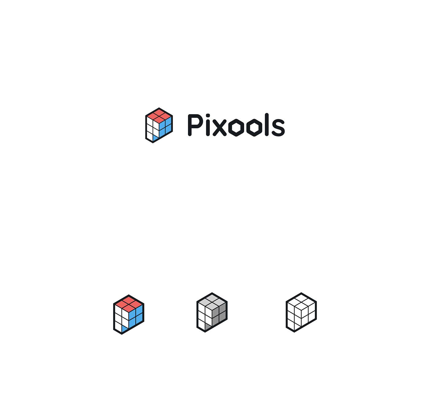 pixels pixools tools branding  brand cubes animation
