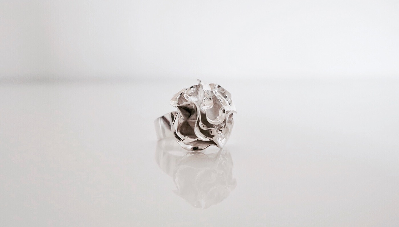 jewelry sculpture silver contemporary