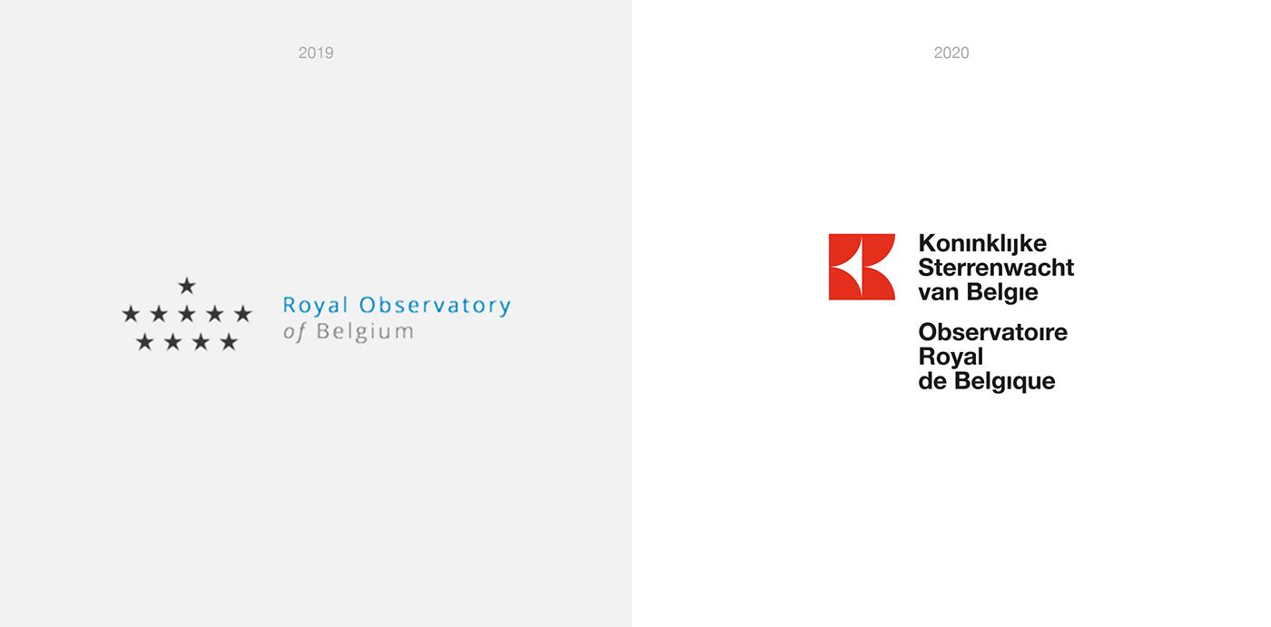 Astrology belgium branding  logo nasa observatory rebranding royal observatory simple Space