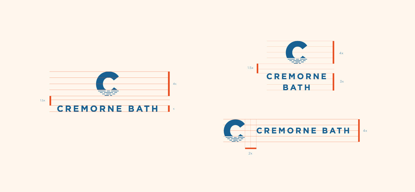 Student work cremorne bath Brand Guideline brand guidelines brand expression Billy Blue wayfinding Style Guide Typographic Systems brand identity