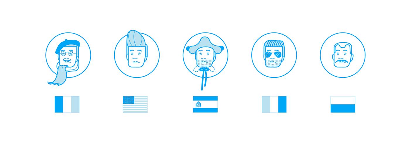 animation  vector graphic graphic design  illustartion flat Icon