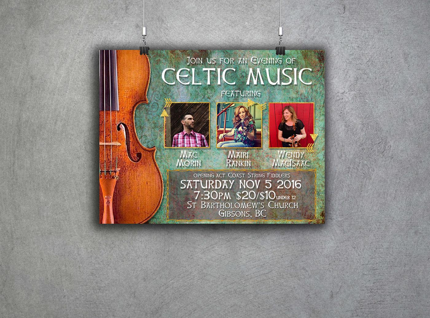 concert poster celtic music mairi rankin mac morin wendy macisaac st.bartholomew's church sara rankin gibsons