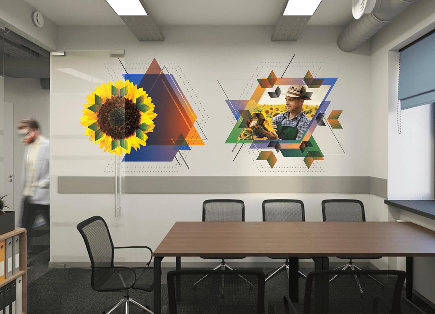 branding  design system identity navigation posters sunflower oil Visual Communication wayfinding Meta2