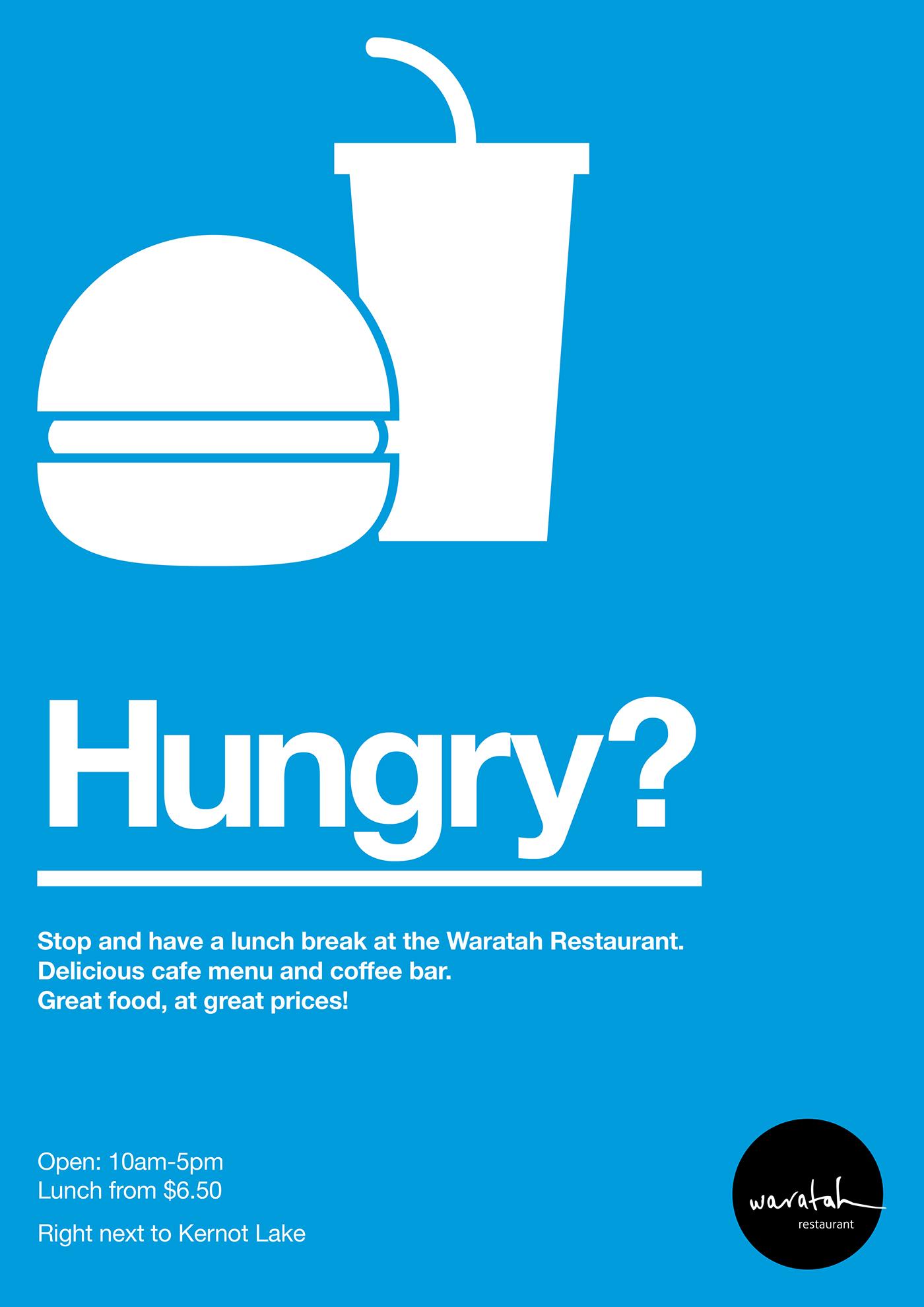Waratah Restaurant Promotional Posters on Behance