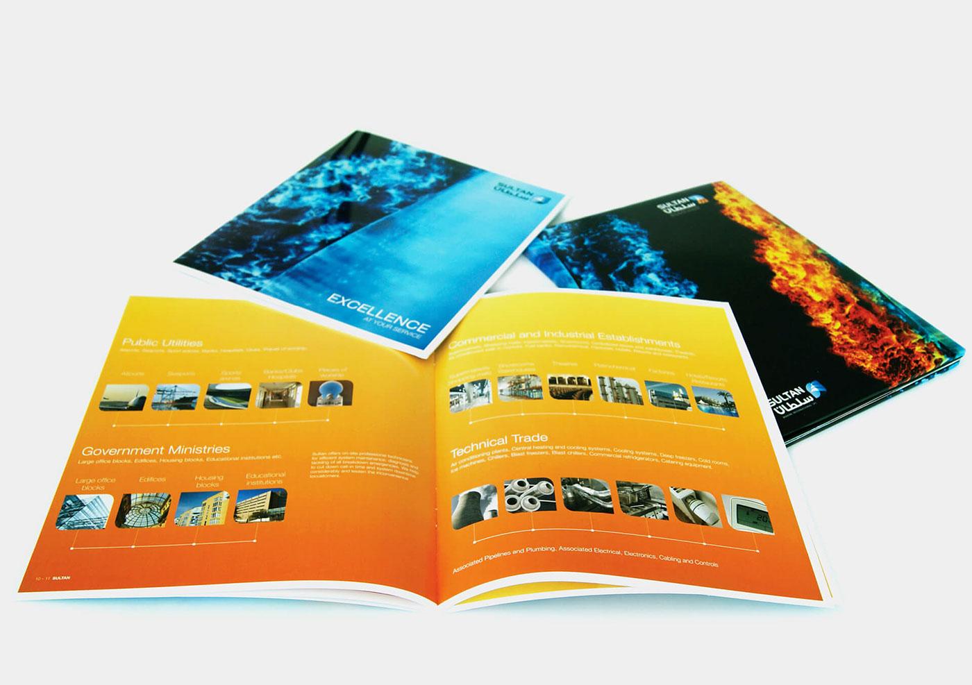 brochure marine folder HVAC logo
