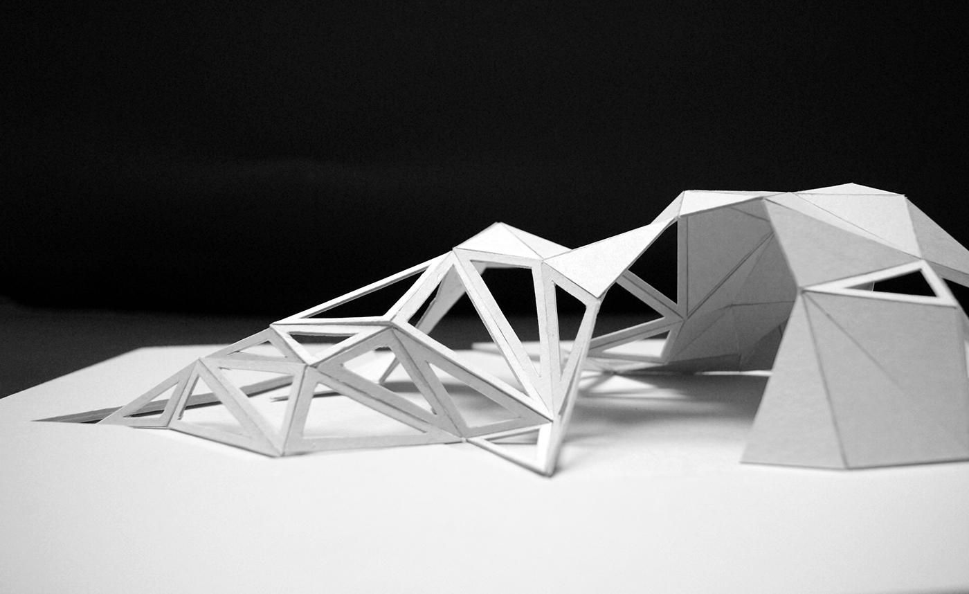 Exhibition space concept on behance for Triangle concept architecture