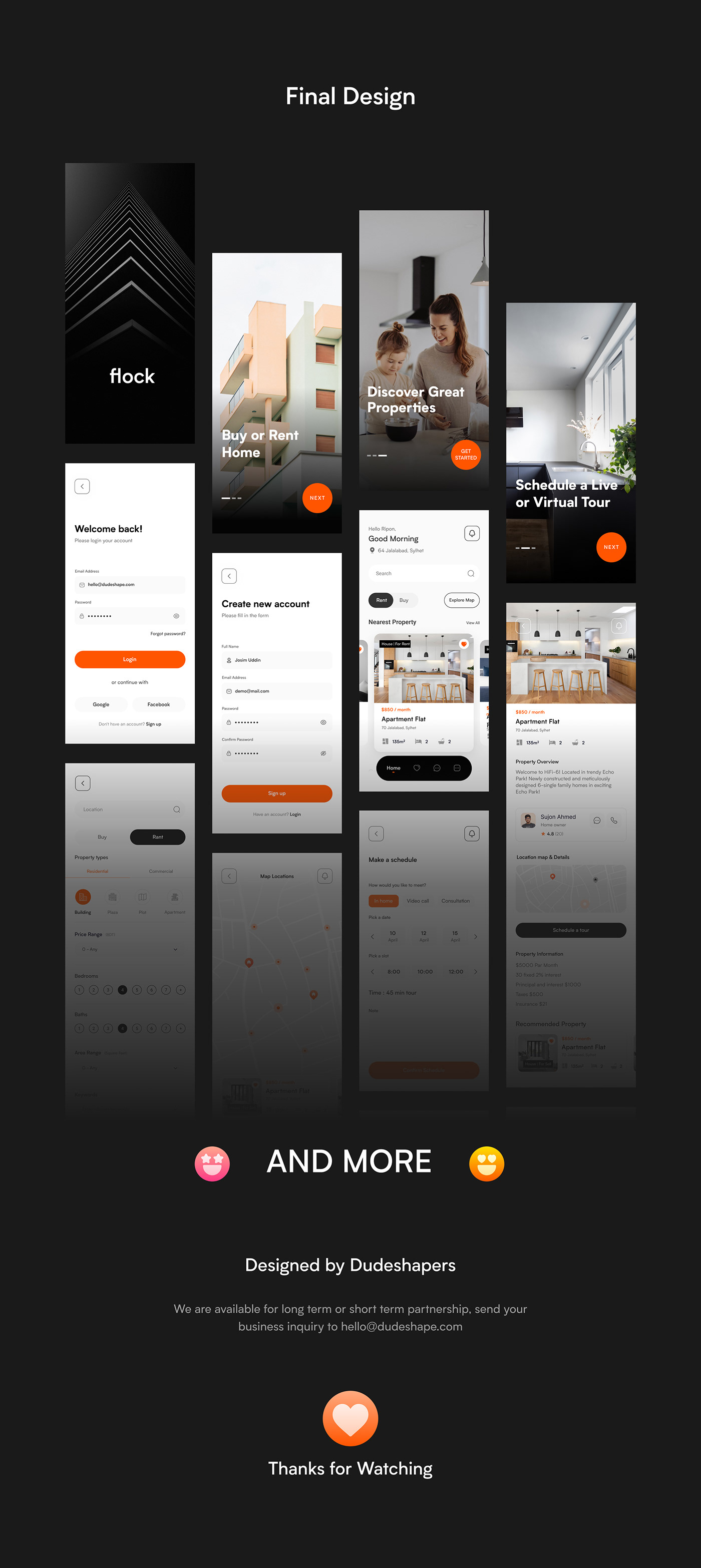 Case Study Digital product design house booking mobile app design product design  Property Listing real estate ui design ui ux UX Case Study