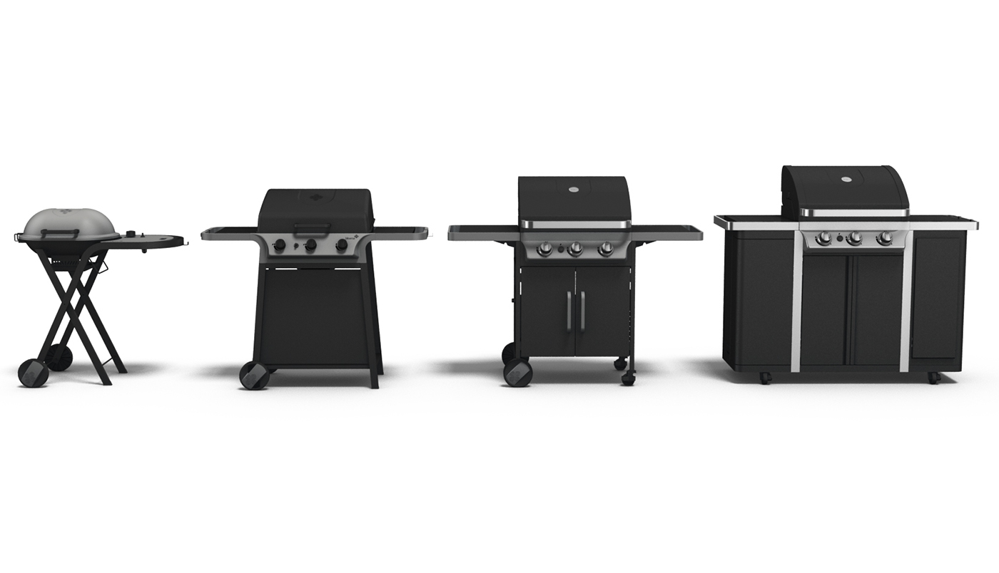 gas bbq range for blooma on behance. Black Bedroom Furniture Sets. Home Design Ideas