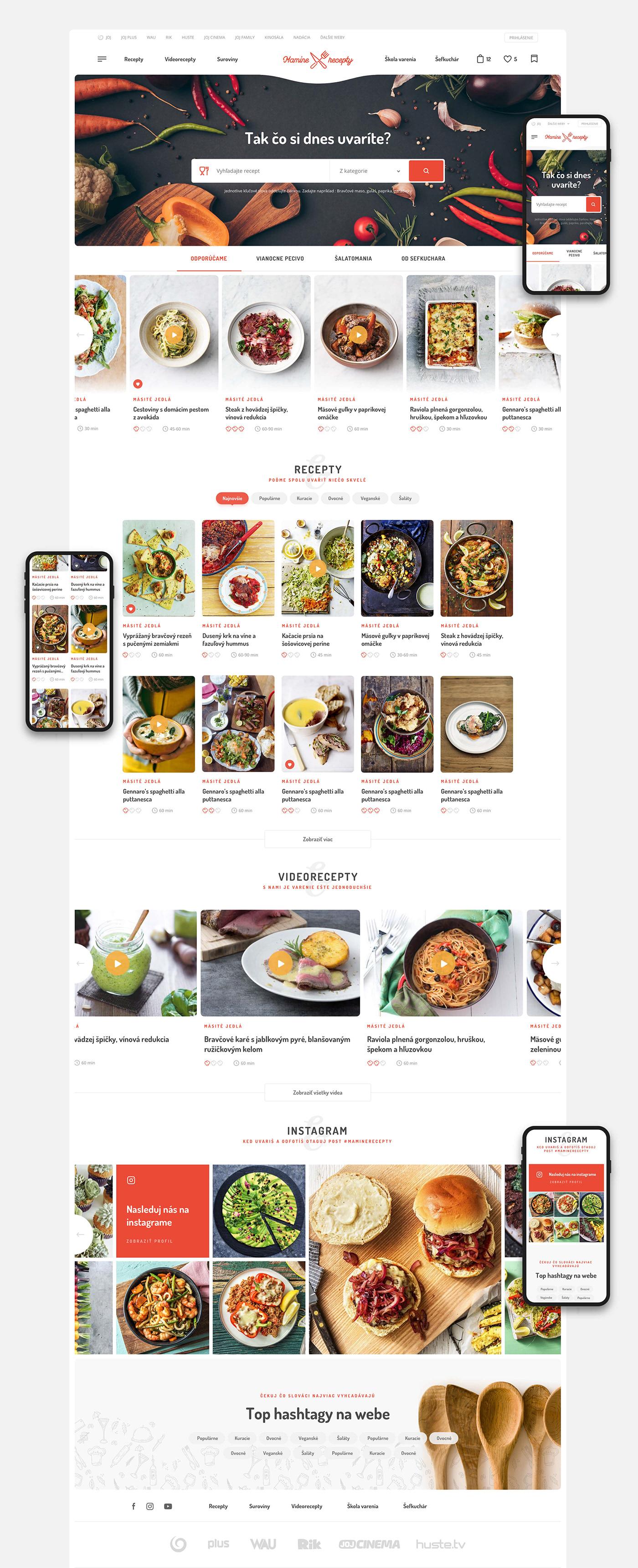 cooking Webdesign Website user interface television UI ux landing recipe cook