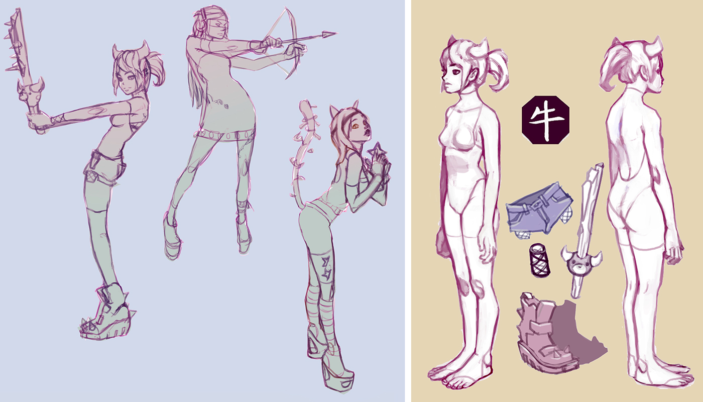 Character Design Body : Character design set on behance