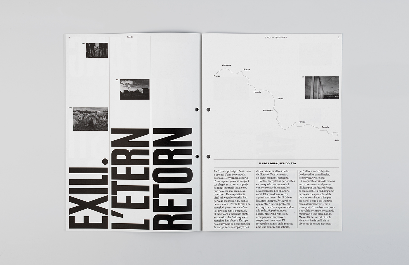 typography   editorial Refugees War type color