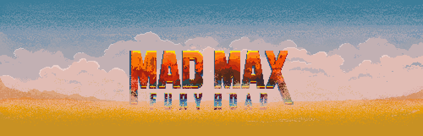 movie 8bit pixelart Pixel art 8 bit Mad Max Fury Road gif animation  ILLUSTRATION