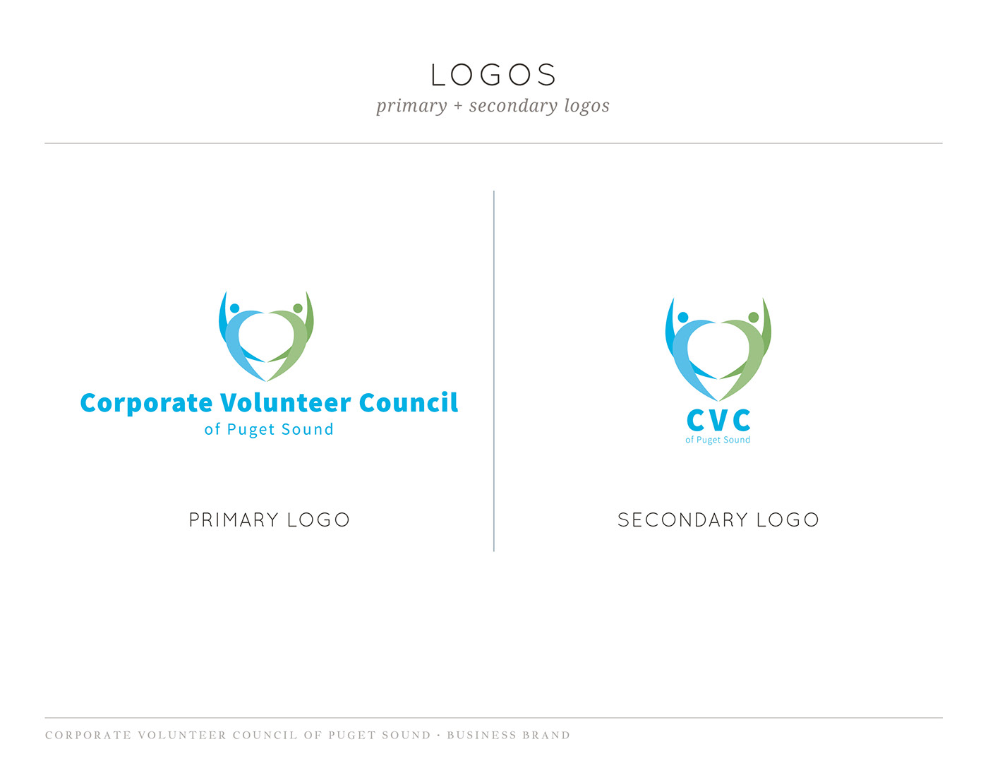 brand identity marketing one-sheet business card fundraising King County non-profit