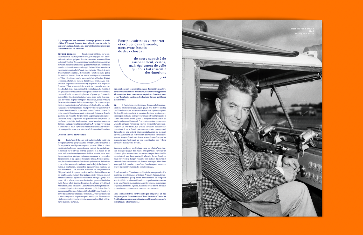 L'adn brain Violaine & Jeremy orange editorial graphic design  typography   Art Direction. arnaud deroudilhe font