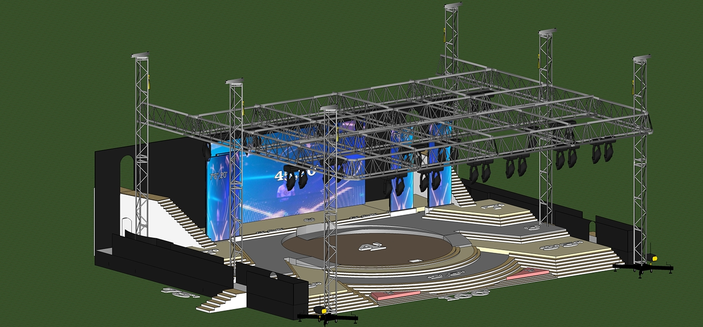 Stage visualization Stage Modeling event visualization 3d modeling Event Management event planning 3D Visualization
