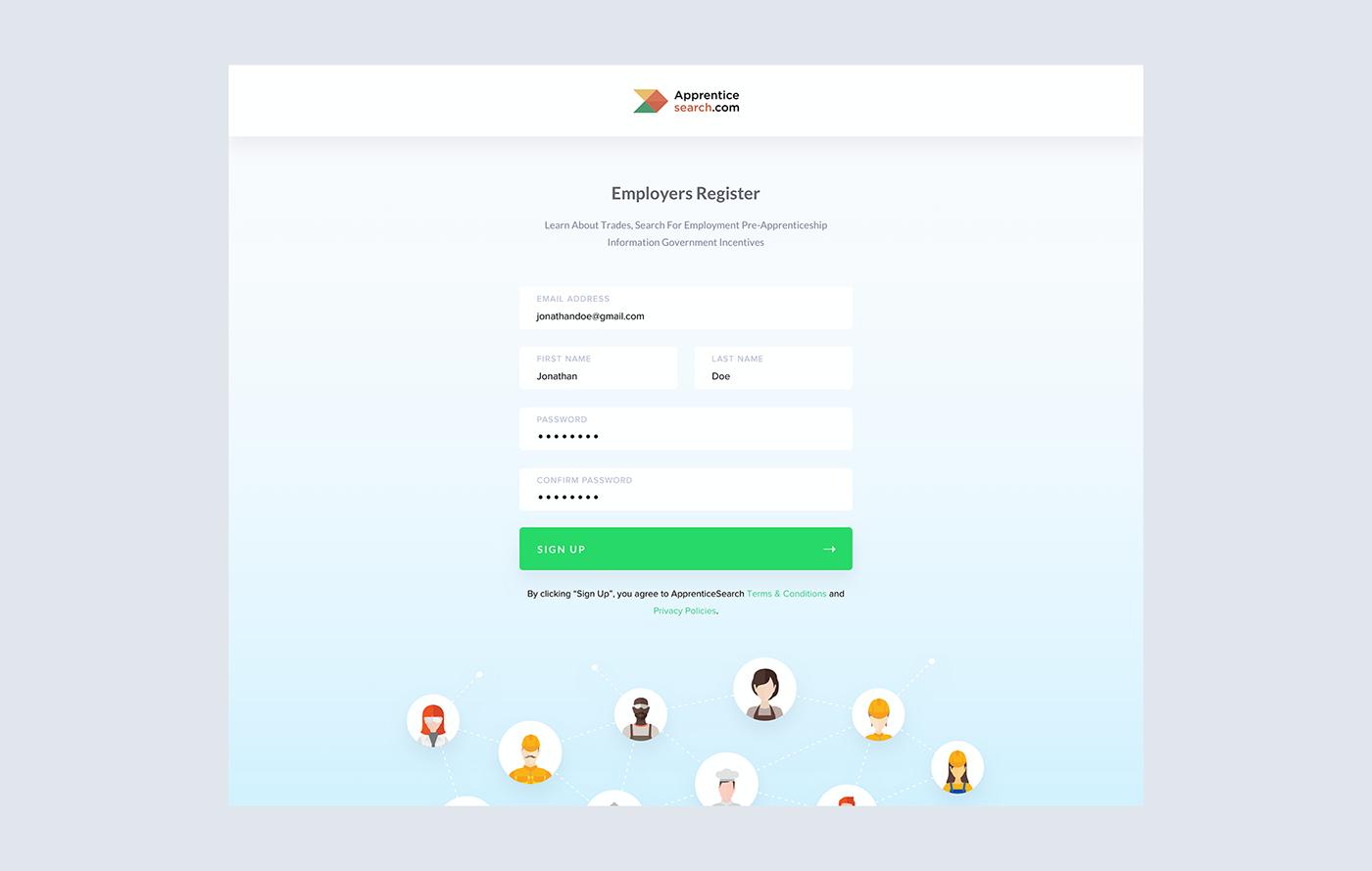 strategy UI & UX UI/UX Design Website