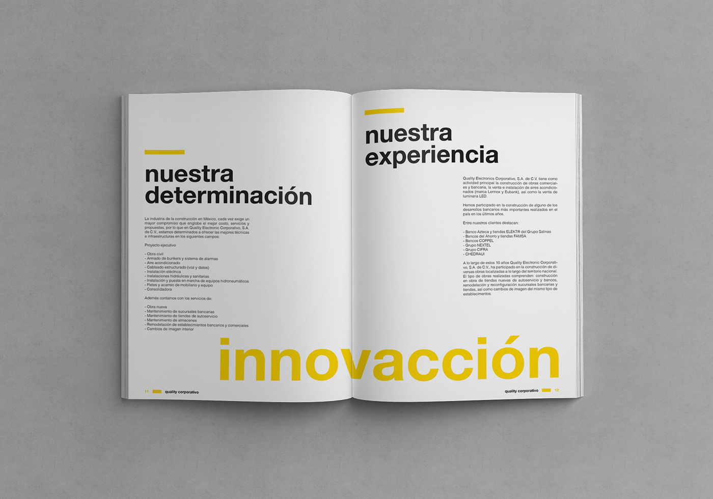 catalog product book Layout print editorial mexico brochure color corporate lighting