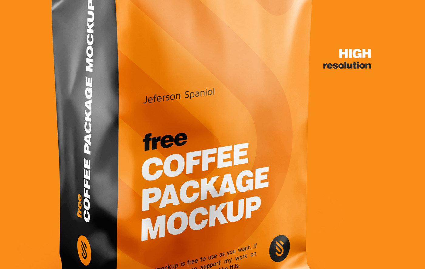 Mockup free mock-up design visualization Packaging package Pack mock-ups Coffee