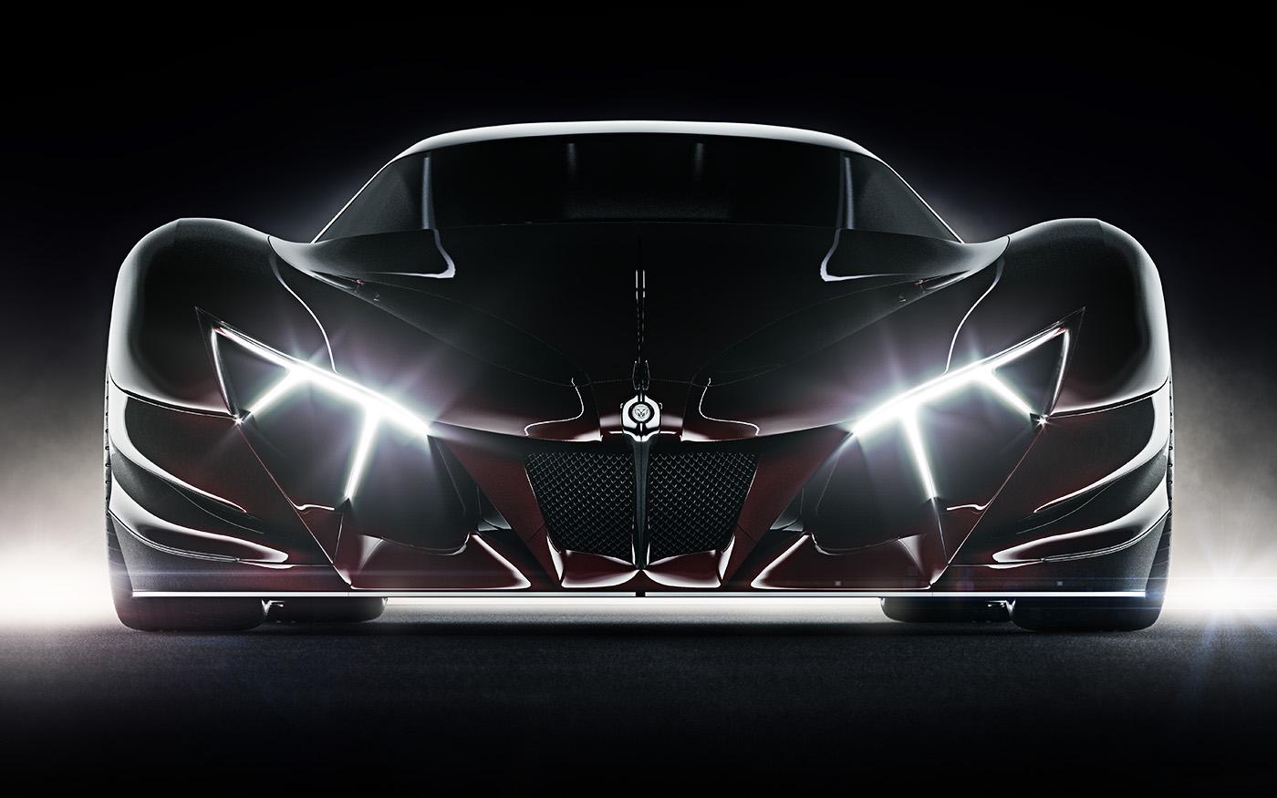 jaguar Automotive design sculptural red car design supercar hypercar